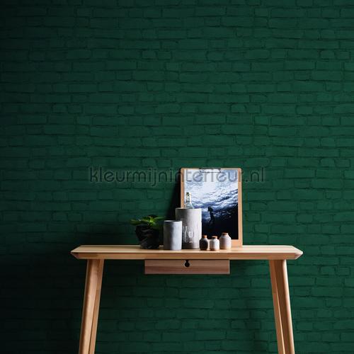 Geschilderde muur warm grijs behang 374143 Stenen AS Creation