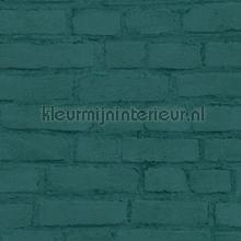 Geschilderde muur zeegroen tapeten AS Creation uni farben