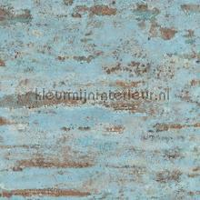 Slechtgeschilderde muur licht oudblauw tapeten AS Creation uni farben