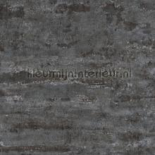 Slechtgeschilderde muur antraciet zwart behang AS Creation Stenen