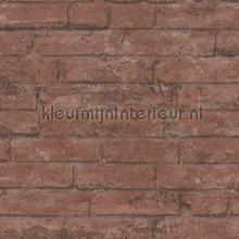 Steenrode muur met weinig opvallende voegen behang AS Creation Stenen