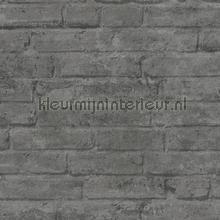 Grijze muur met weinig opvallende voegen behang AS Creation Stenen