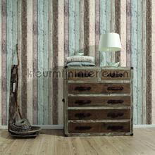 Gekleurde houten stroken papier peint AS Creation wallpaperkit