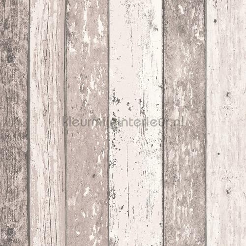 Gekleurde houten stroken papel de parede 855053 madeira AS Creation