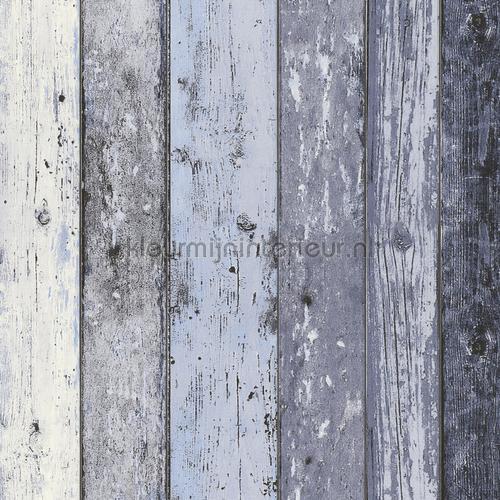 Gekleurde houten stroken papel de parede 855060 madeira AS Creation