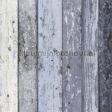 Gekleurde houten stroken papier peint AS Creation stress