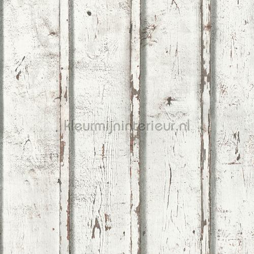 Rustieke witte schroten papel de parede 953701 madeira AS Creation