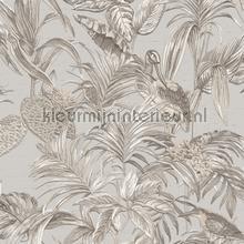 Bird of paradise grey behang Dutch Wallcoverings Embellish DE120011