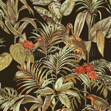 Bird of paradise black behang Dutch Wallcoverings Embellish DE120015