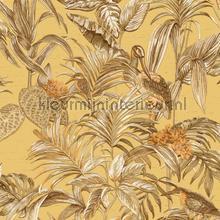 Bird of paradise mustard behang Dutch Wallcoverings Embellish DE120018