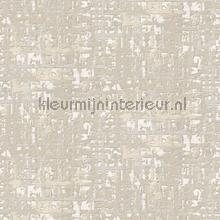 Fabric abstract cream behang Dutch Wallcoverings Embellish DE120091