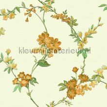 Flower green carta da parati Dutch Wallcoverings Fabric Touch FT221212
