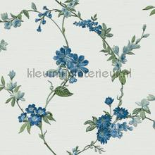 Flower light blue carta da parati Dutch Wallcoverings Fabric Touch FT221213