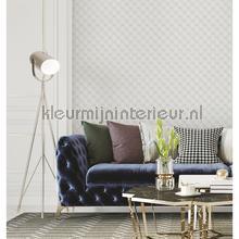 Geometric white behang Dutch Wallcoverings klassiek