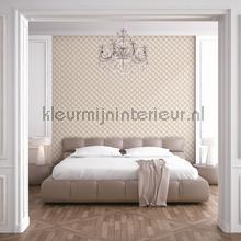 Geometric cream behang Dutch Wallcoverings klassiek