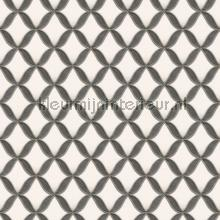 Geometric whiteblack behang Dutch Wallcoverings klassiek