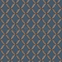 Geometric brown behang Dutch Wallcoverings klassiek