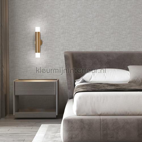 Weave grey wallcovering FT221242 plain colors Dutch Wallcoverings
