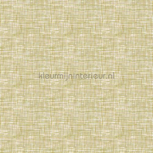 Weave green wallcovering FT221249 plain colors Dutch Wallcoverings