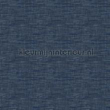 Weave dark blue carta da parati Dutch Wallcoverings Fabric Touch FT221251