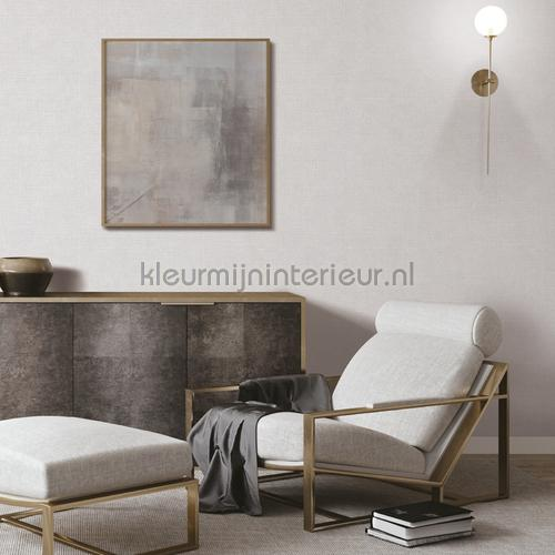 Linen white wallcovering FT221261 plain colors Dutch Wallcoverings
