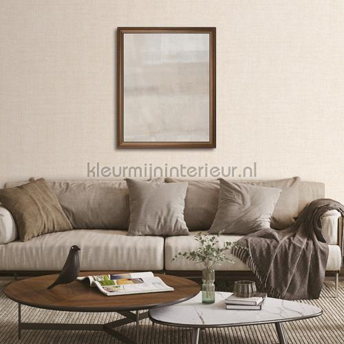Linen cream wallcovering FT221262 plain colors Dutch Wallcoverings