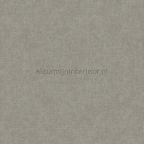 Linen dark grey wallcovering FT221267 plain colors Dutch Wallcoverings