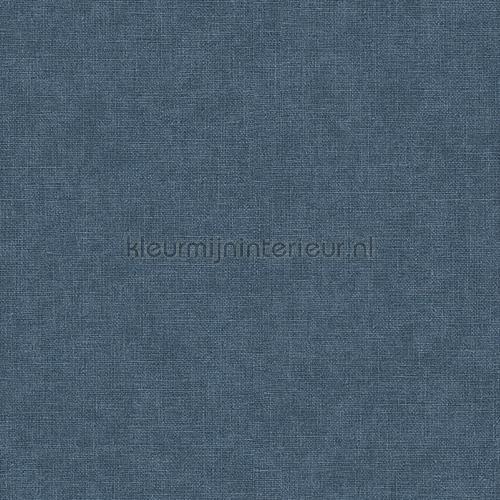 Linen dark blue wallcovering FT221270 plain colors Dutch Wallcoverings