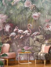 Flamingo Found dark behang Behang Expresse romantisch modern