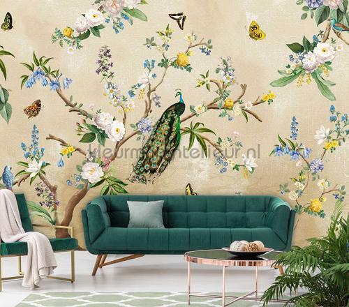 Secret Garden Sand wallcovering ink7559 romantic modern Behang Expresse