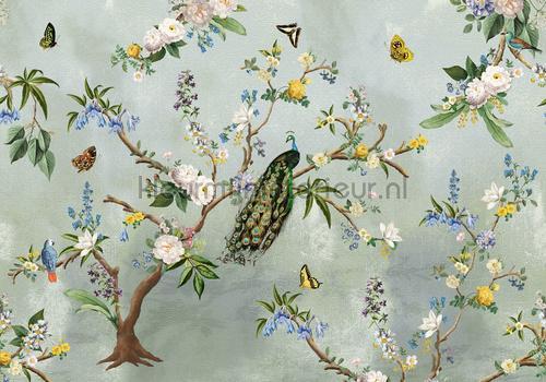 Secret Garden Turkuoise papier peint ink7560 romantique moderne Behang Expresse