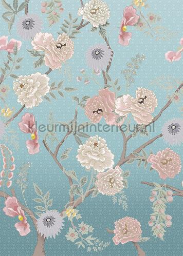 Tea Garden Afternoon wallcovering ink7562 romantic modern Behang Expresse