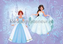 2 blue princesses and their castle fototapeten Kleurmijninterieur weltraum