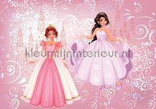 2 princesses and their castle fotomurali Kleurmijninterieur sport