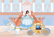 Blue princess and her carriage fototapeten Kleurmijninterieur weltraum