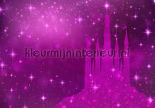 Magic purple castle fotomurali Kleurmijninterieur sport