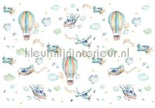 Childrens air balloons papier murales Kleurmijninterieur tout images