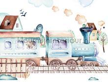 Childrens train papier murales Kleurmijninterieur tout images