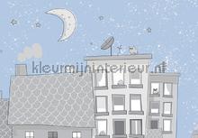 Childrens star night papier murales Kleurmijninterieur tout images