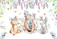 Babyforest animals papier murales Kleurmijninterieur tout images