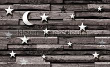 Wood moon and stars fotomurais Kleurmijninterieur Todas-as-imagens