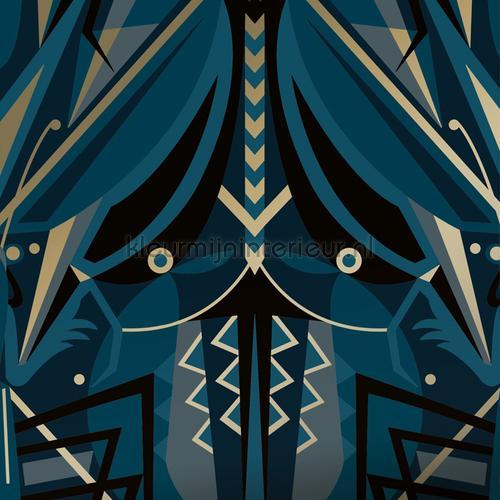 art deco animaux papier murales MW-004 Moderne - Résumé Kek Amsterdam