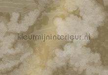 Engraved Clouds gold metallic papier murales Kek Amsterdam PiP studio wallpaper