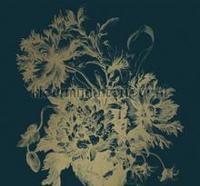 Engraved Flowers gold metalllic fototapeten Kek Amsterdam alle bilder