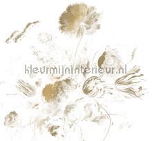 Golden Age Flowers gold metallic behang Kek Amsterdam Gold Metallics MW-050