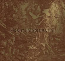 Tropical Landscapes gold metallic papier murales Kek Amsterdam Gold Metallics MW-062
