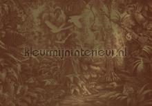 Tropical Landscapes gold metallic papier murales Kek Amsterdam Gold Metallics MW-063