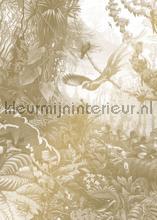 Tropical Landscapes gold metallic papier murales Kek Amsterdam Gold Metallics MW-064