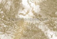Tropical Landscapes gold metallic papier murales Kek Amsterdam Gold Metallics MW-066