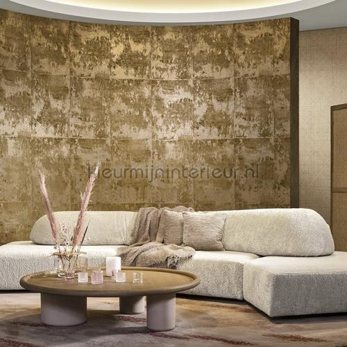 Platinum warm gold papier peint 85500 papier peint de mètre Arte